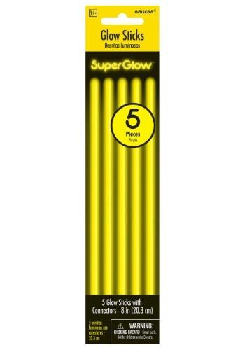 "Glowsticks amarillos - 8 ""paquete de 5"