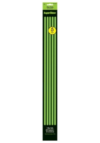 Varitas brillantes verdes de 22 pulgadas - Paquete de 5.