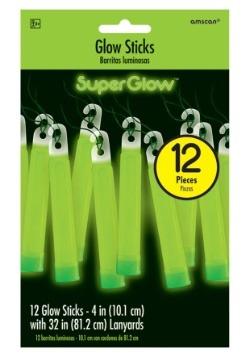 """Glowsticks verdes - Paquete de 4 """"de 12"""