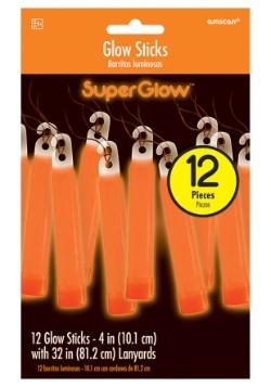 """Glowsticks anaranjados - 4 """"paquete de 12"""