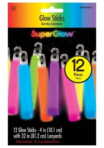 """Varitas luminosas multicolores - Paquete de 4 """"de 12"""