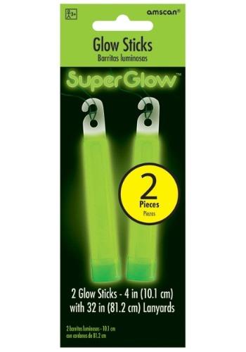 """Glowsticks verdes - Paquete de 4 """"2"""