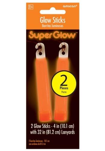 """Glowsticks anaranjados - paquete de 4 """"de 2"""