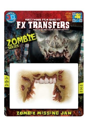 Tatuaje temporal 3-D de mandíbula de zombi