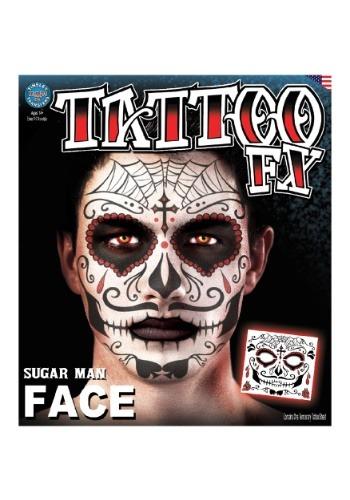 Tatuaje temporal de Día de Muertos