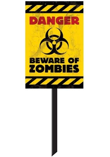 Letrero de decoración de patio zombie