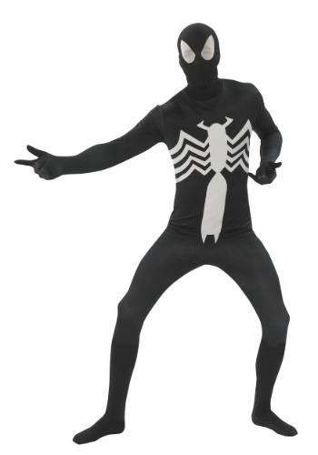 Disfraz de adulto segunda piel de Spider-Man negro
