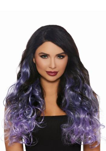 Extensiones de cabello largas y rizadas Lavender Ombre para