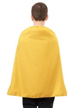 Capa de superhéroe amarilla para niños