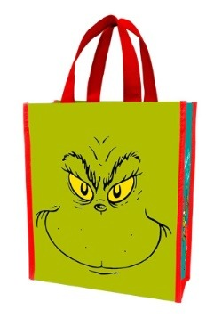 Dr. Suess Grinch Naughty o Nice Recycled Shopper Treat Toe