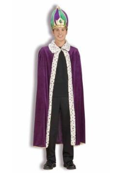 Mardi Gras Robe and Crown Set