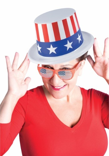 Sombrero de plástico Patriótico