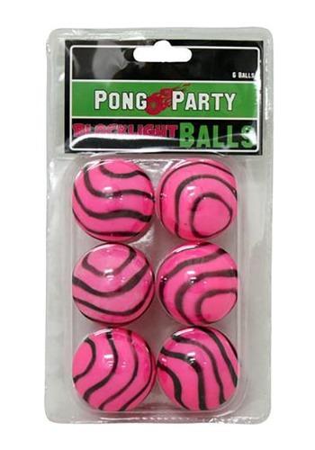 Pelotas de ping pong rosas para luz negra