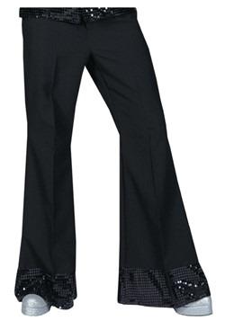 Pantalones negros con lentejuelas estilo disco