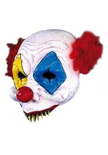 Media máscara de payaso de miedo