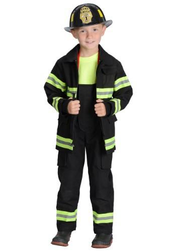 Disfraz de bombero negro para niño