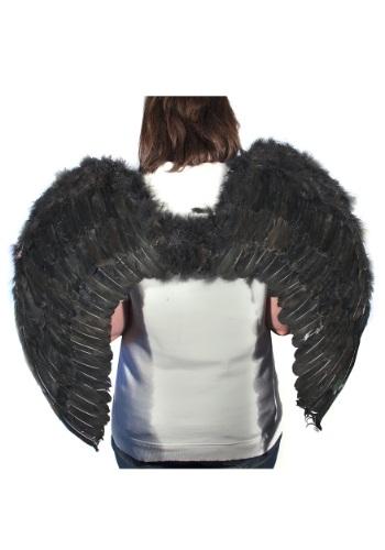 Alas de ángel con plumas negras