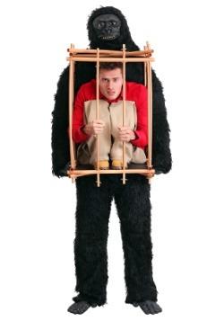 Hombre en un disfraz de jaula de gorila