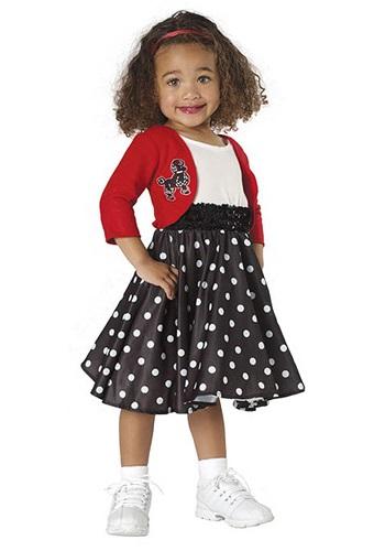 Disfraz de chica de los 50 para niños pequeños