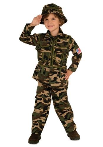 Disfraz del ejército para niños pequeños
