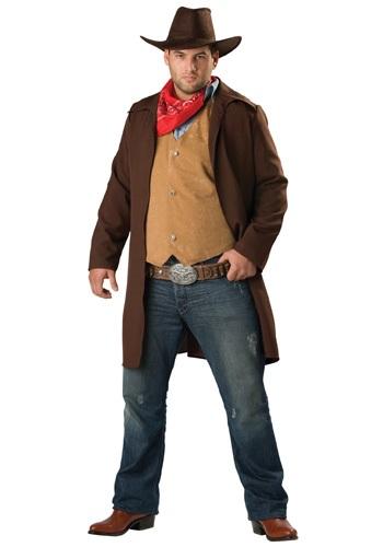 Disfraz de vaquero Rawhide para hombre talla extra