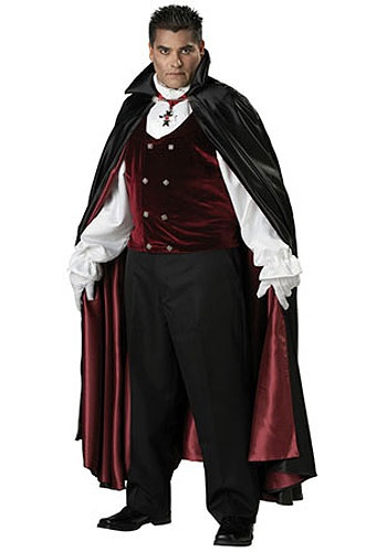 Disfraz de vampiro gótico talla extra