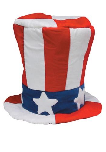 Sombrero de copa de terciopelo del tío Sam