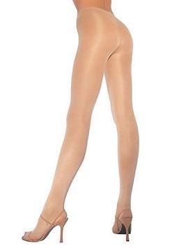Panteras opacas de color nude para mujer