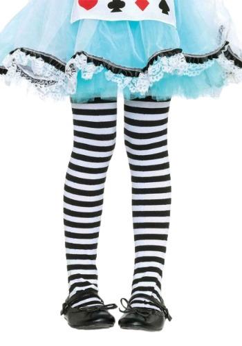 Mallas de rayas negras y blancas para niños