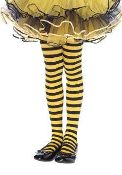 Mallas de rayas negras y amarillas para niños