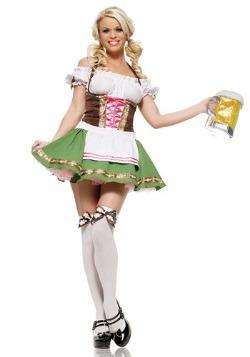 Vestido de chica alemana de la cerveza