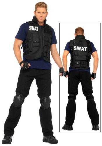 Disfraz de equipo SWAT para hombre