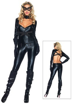 Disfraz negro de gato para niña