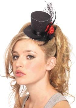 Mini sombrero negro de copa