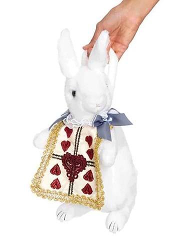 Cartera de conejo blanco