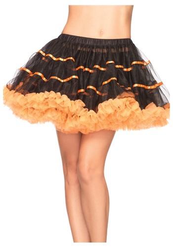 Enaguas de tul naranja y negro