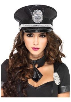 Gorra de policía con lentejuelas