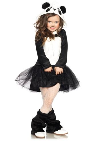 Disfraz de panda bonita para niña