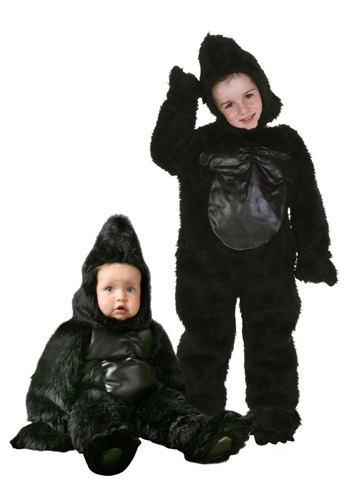 Disfraz de gorilla para niños pequeño deluxe