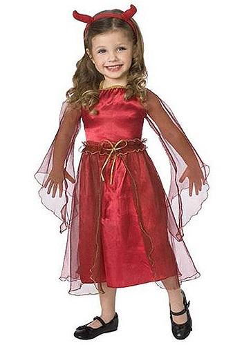 Disfraz de diablo de los niños pequeños