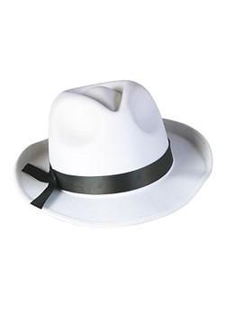 Sombrero Fedora blanco
