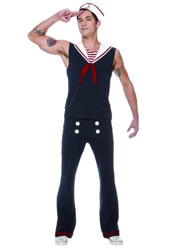 Disfraz de marinero Deckhand para hombre