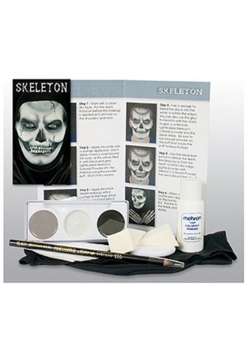 Kit de caracteres de maquillaje de esqueleto
