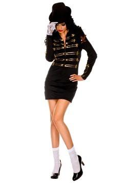 Disfraz de sexy estrella de pop con guante