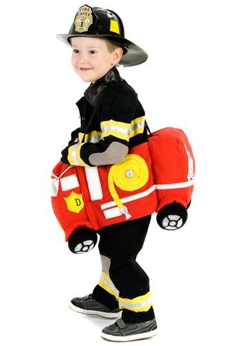 Disfraz de camión de bomberos para montar