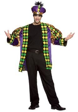 Disfraz de rey de Mardi Gras para adulto