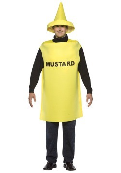 Disfraz de mostaza para adulto