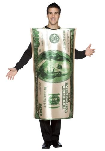 Disfraz de billete de 100 dólares