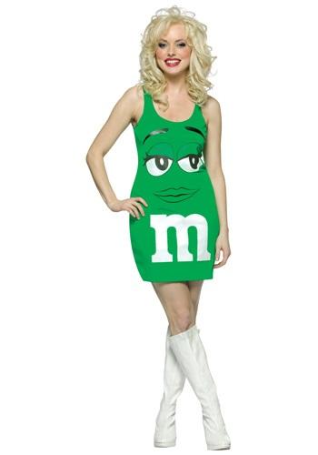 Disfraz verde M&M para mujer