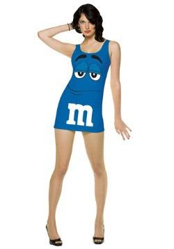 Disfraz de M&M azul para mujer